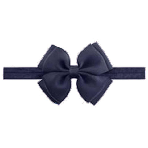 Baby Navy Double Bow Headband