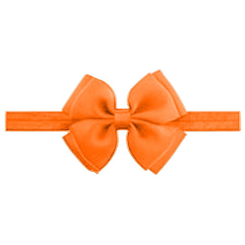 Baby Orange Double Bow Headband