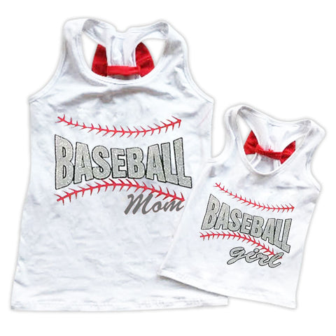 Baseball Mommy And Me Tank Top