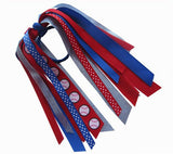 Baseball Ponytail Ribbon Streamer