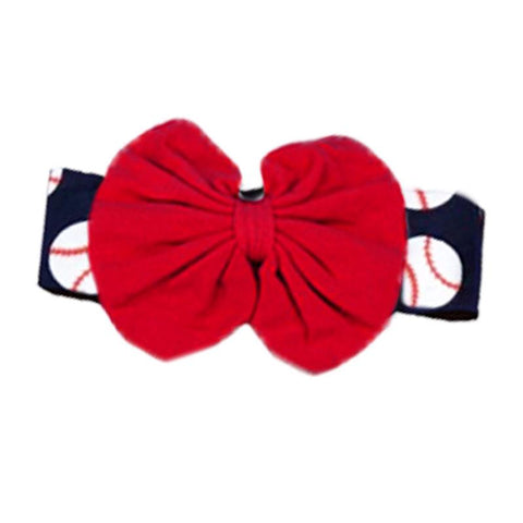 Baseball Red Messy Headband