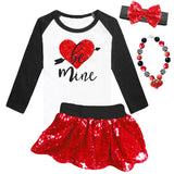 Be Mine Shirt Heart Black Raglan Mommy Me