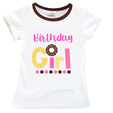 Birthday Girl Sprinkle Donut Shirt