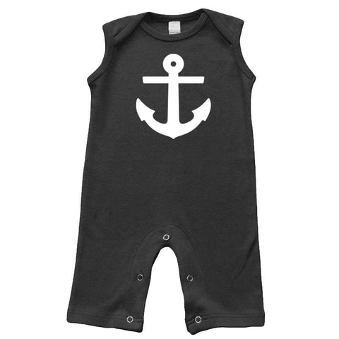 Black Anchor Romper Sleeveless