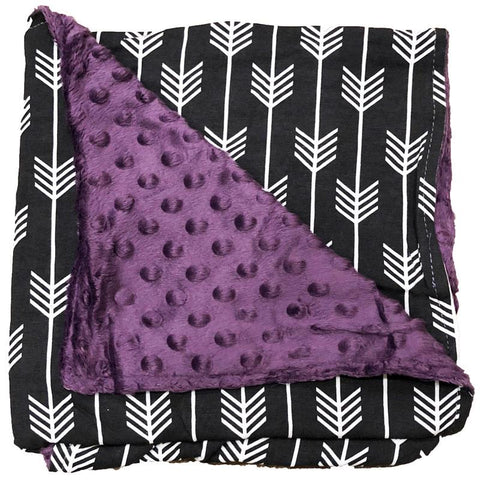 Black Arrow Purple Minky Blanket
