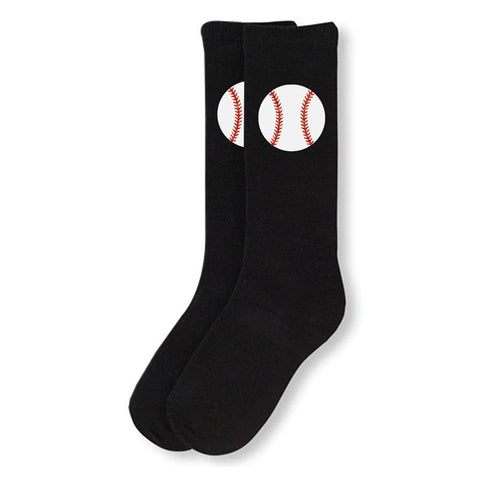 Black Baseball Long Socks Sparkle