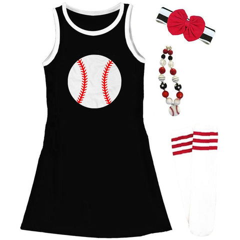 Black Baseball Tank Dress