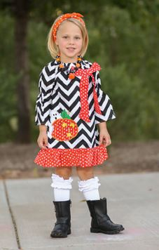 Black Chevron Ghost Dress