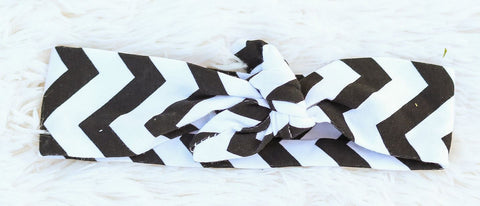 Black Chevron Head Wrap Headband