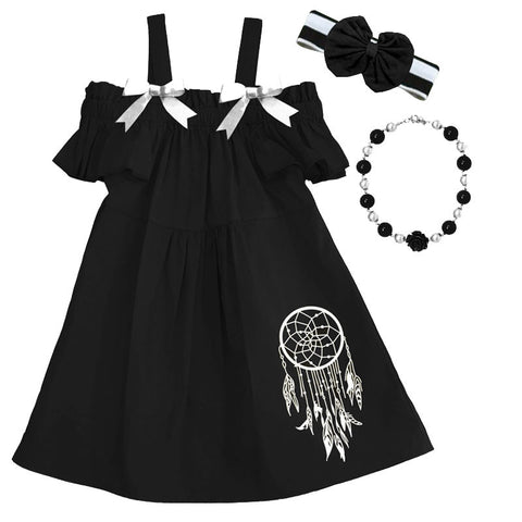 Black Dreamcatcher Sun Dress