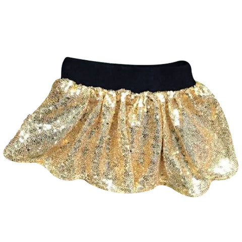 Black Gold Sequin Skirt