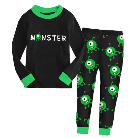 Black Green Monster Pajamas