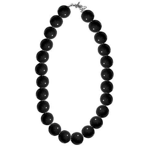 Black Gumball Necklace