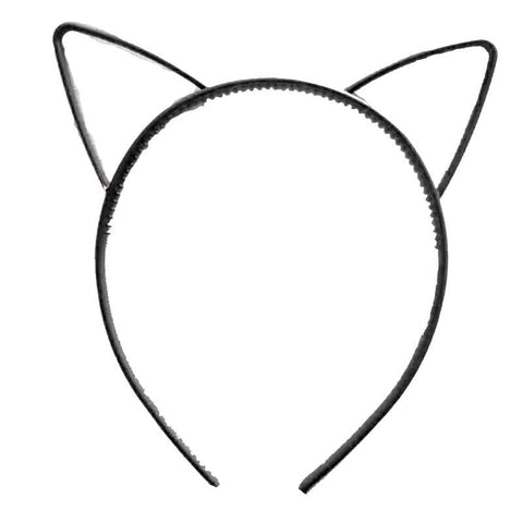 Black Kitty Cat Ears Headband