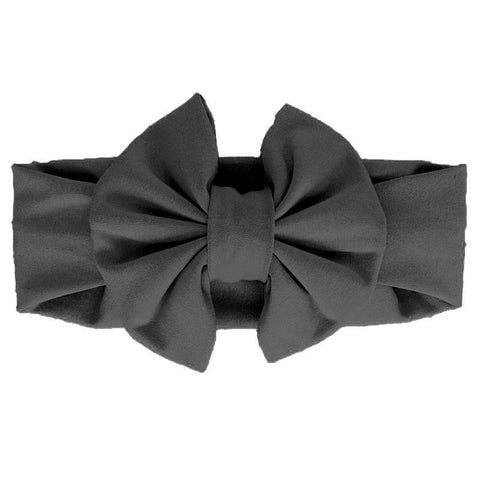 Black Messy Bow Head Wrap