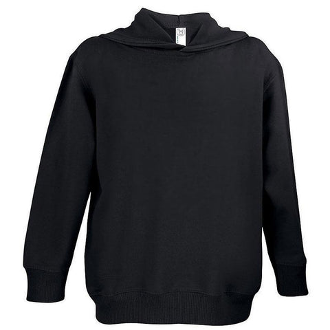 Black Pocket Pullover Hooded Sweatshirt
