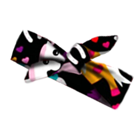 Black Rainbow Unicorn Head Wrap