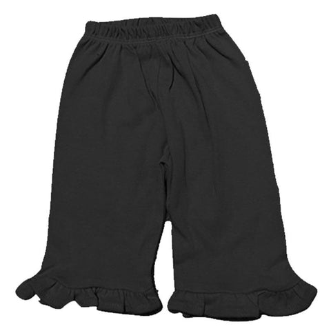 Black Ruffle Bottom Pants