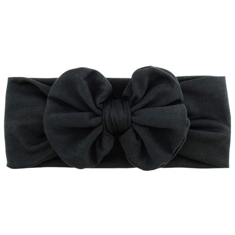 Black Ruffle Bow Headband