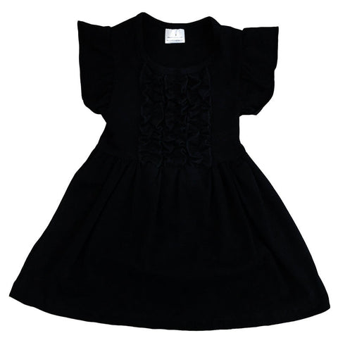 Black Ruffle Tunic Shirt