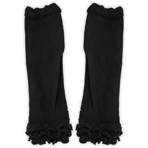 Black Ruffle Leg Warmers
