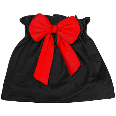 Black Skirt Red Bow
