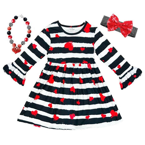 Black Stripe Dress Queen Of Hearts