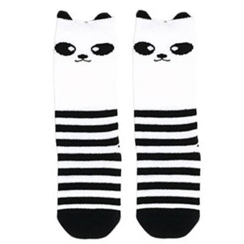Black Stripe Panda Leg Warmers