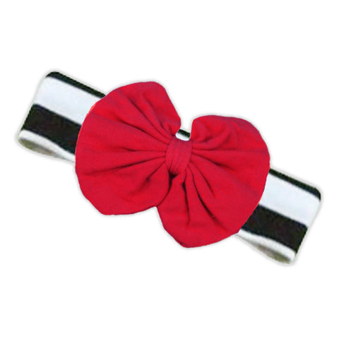 Black Stripe Red Messy Headband