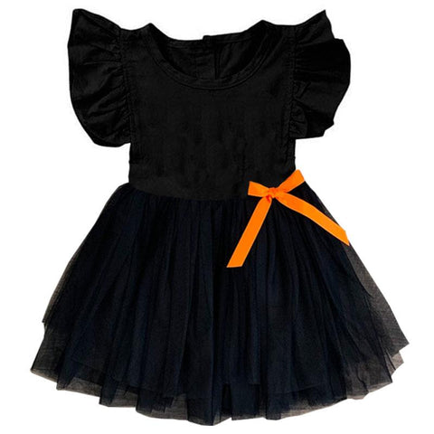 Black Tutu Dress Orange Bow