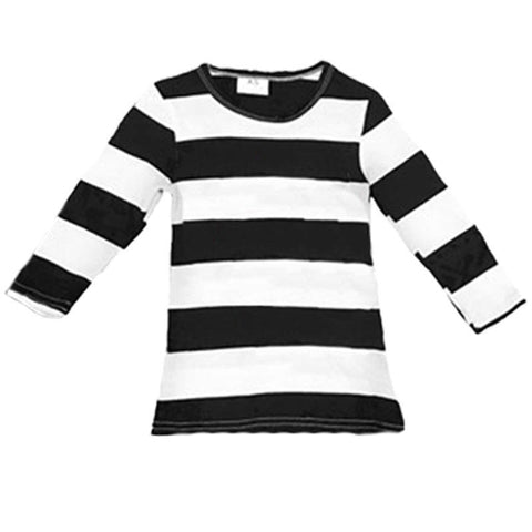 Black White Large Stripe Shirt Long Sleeve