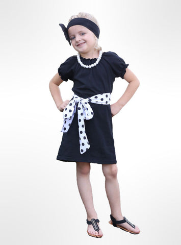 Black White Polka Bow Dress