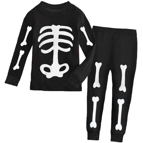 Black White Skeleton Bones Pajamas