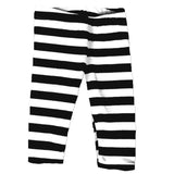 Black White Stripe Capri