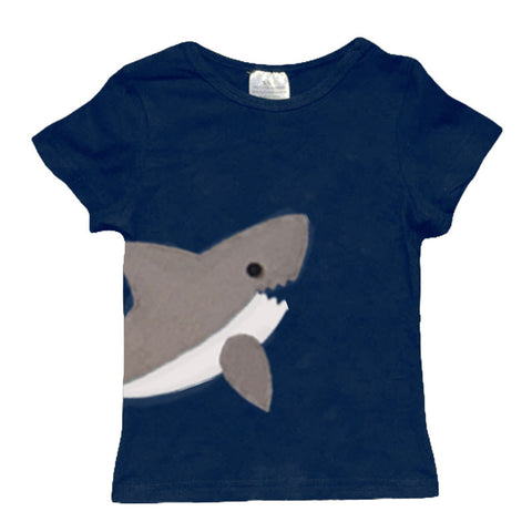 Blue Gray Shark Shirt