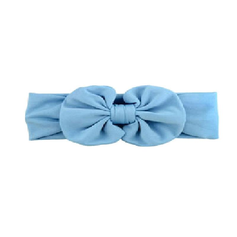 Blue Ruffle Bow Headband