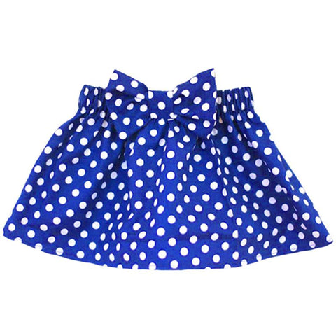 Blue Skirt Polka Dot Bow