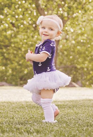 Navy White Anchor Onesie Tutu