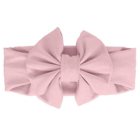 Blush Pink Messy Bow Headband