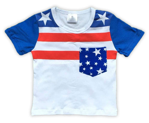 Boy Stars And Stripes Pocket Shirt
