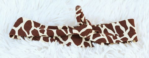Brown Giraffe Head Wrap Headband