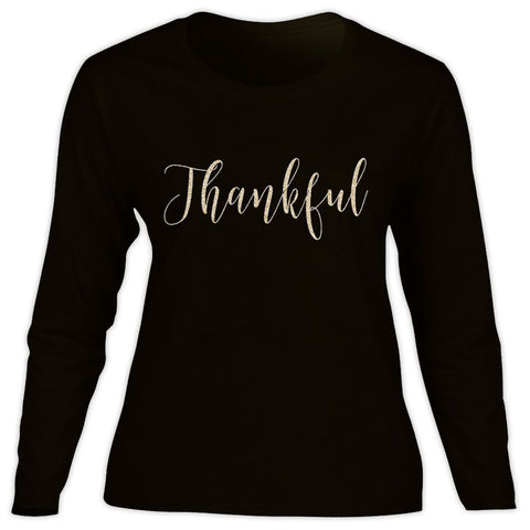 Black Gold Thankful Mommy Shirt