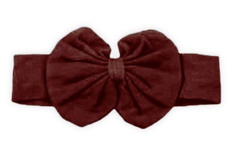 Brown Messy Bow Headband