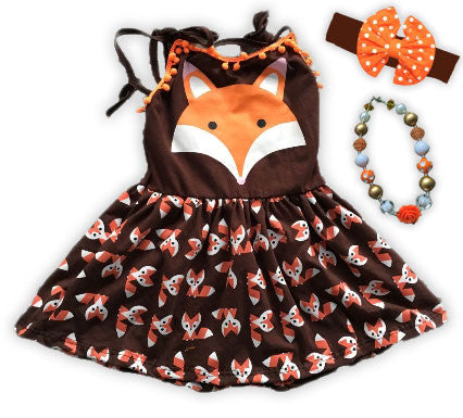 Brown Orange Fox Dress