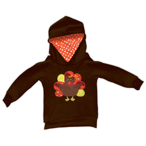 Brown Orange Polka Turkey Hoodie