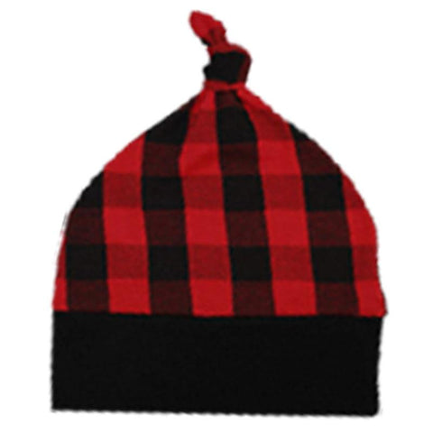 Buffalo Checkered Plaid Beenie Hat Knot