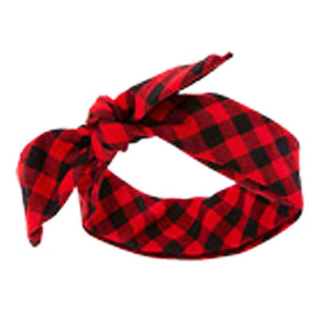 Buffalo Checkered Plaid Head Wrap Headband