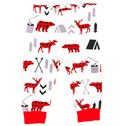 Buffalo Plaid Pants Deer Moose Bear