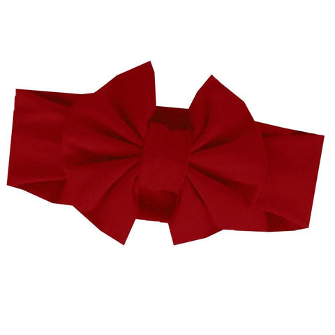 Burgandy Headband Messy Bow