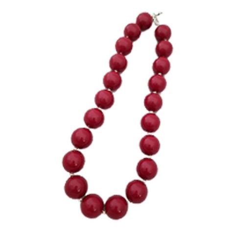 Burgandy Necklace Chunky Gumball